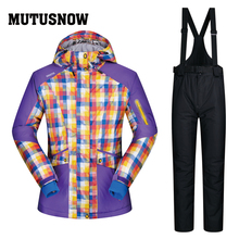 Лыжный костюм для женщин Бренды зимняя уличная куртка и брюки для девочек высокое качество ветрозащитный водонепро