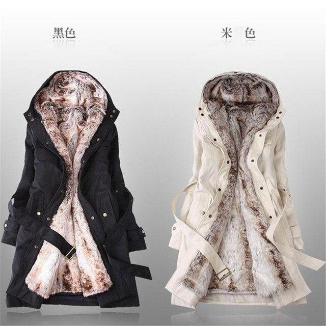 2016 женщин шерстяное пальто зима лайнер траншеи пальто средней длины тонкий мех пальто кашемировые пальто женщин Бесплатная доставка
