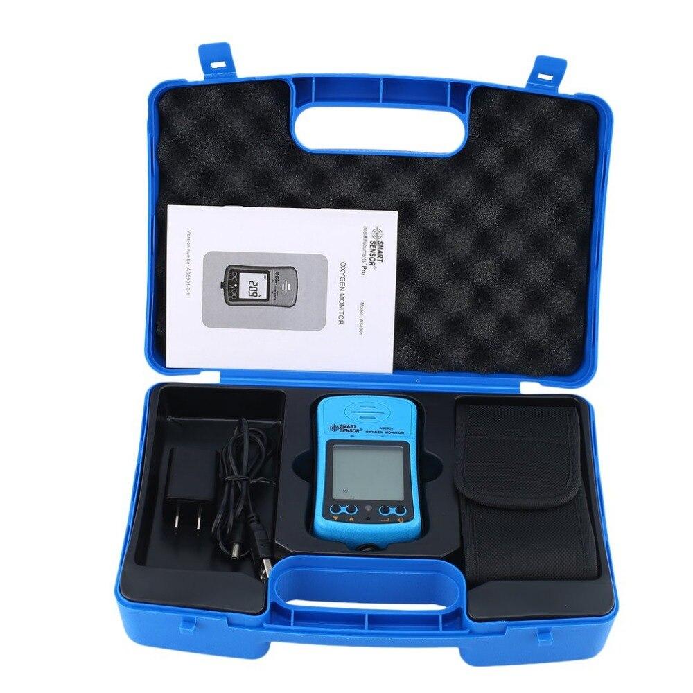 Smart Senor AS8901 De Poche Automobile Compteur D'oxygène O2 Gaz Testeur Moniteur Détecteur Écran LCD Sound Light Vibreur