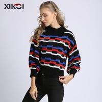 XIKOI Women Sweater Knitted Thick Oversize Lady Jumper Women's Half Turtleneck Warm 2018 Winter Sweater hx700