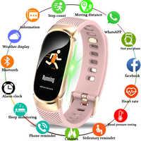 LIGE Sport Bracelet intelligent femmes hommes étanche montre intelligente fréquence cardiaque podomètre intelligent Bracelet pour Android iOS