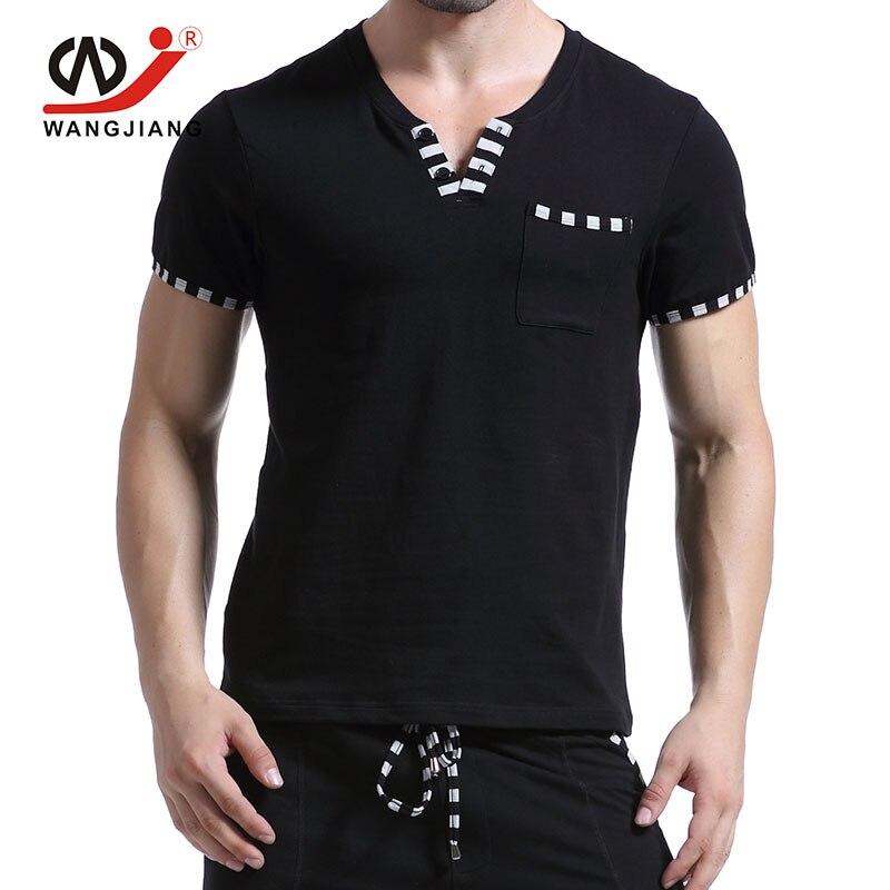 V образным вырезом Sexy Повседневное футболка Homme хлопковая рубашка мужские дворец Дэдпул комфорт мужские футболки Модная пикантная брендова