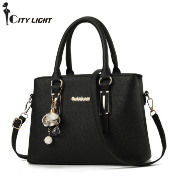 Crossbody Bags for Women 2019 Leather Luxury Handbag Designer Shoulder Bags Satchel Ladies Messenger Bag Tote Bell Pendant