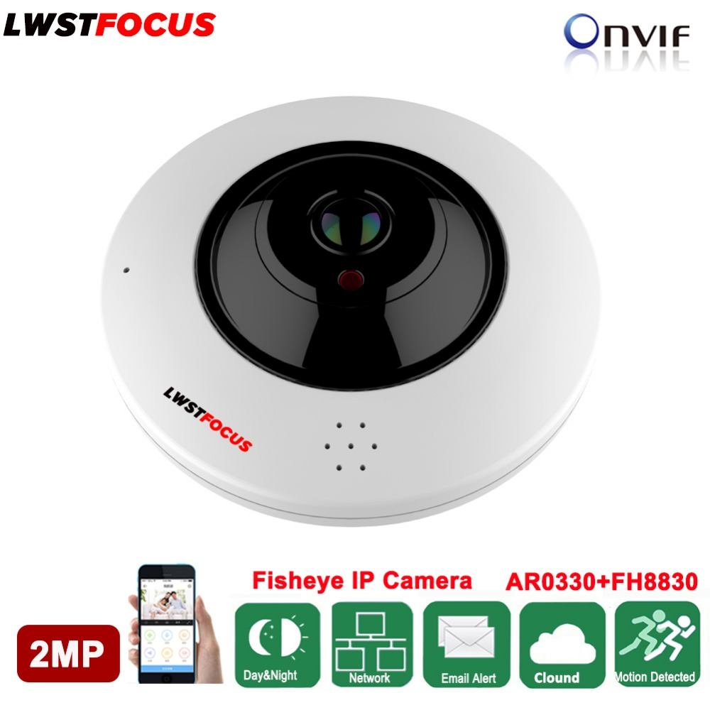 Panoramic Fisheye IP Camera Wifi IP Camera Built In Audio Full View Wide Angle 360 Degree 1080P IP Camera Onvif Security camera стоимость