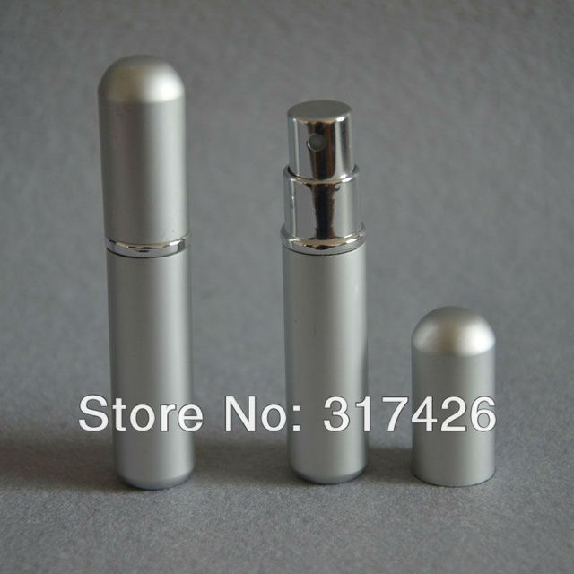 Free Shipping- wholesale 3ml aluminum perfume bottle,  Refillable Spray,empty metal spray bottle