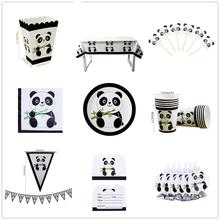 20pcs Panda Paper towel napkin Party Decorations Supplies easter wedding Paper cups decor baby shower for home Activity goods 10pcs emoji disposable tableware napkin paper towel happy birthday party decorations supplies easter baby shower activity goods