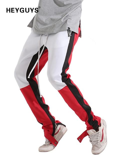 HEYGUYS 2018 de moda Fitness pantalones largos pantalones de los hombres  pantalones de moda de Pantalones 324dc45e441