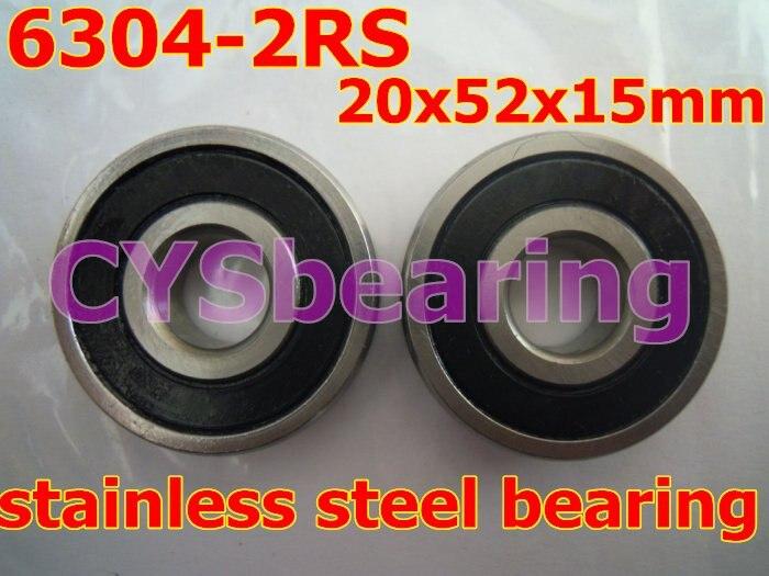 Нержавеющая сталь 440 6304 2RS 6304 2RS 20X52X15 мм радиальный вал глубокий шаровой подшипник