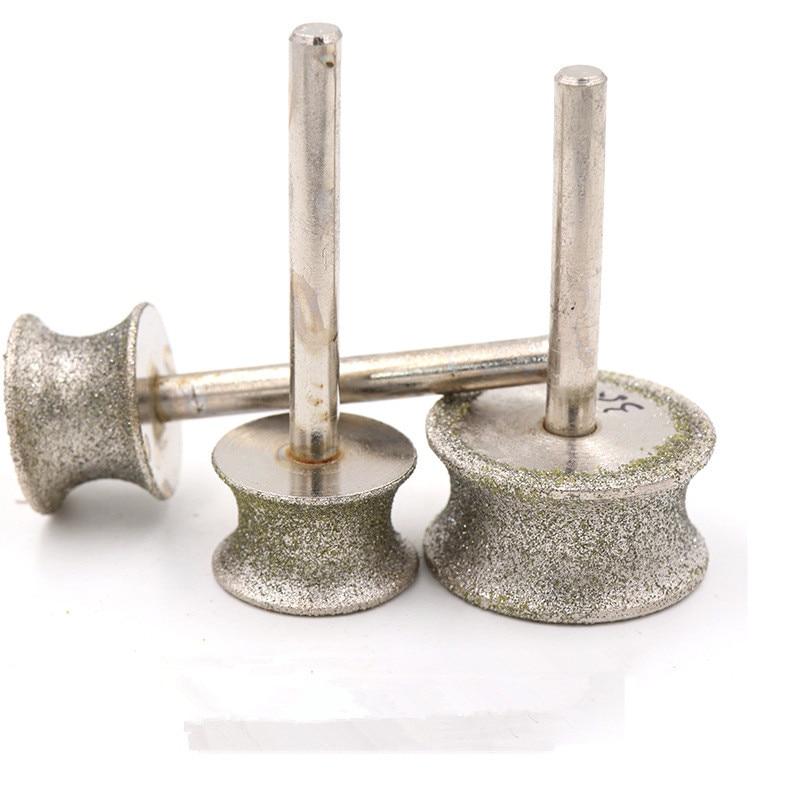 Diamond Grinding Wheel Rounter Bits For Jade Agate Crystal Glass Stone Edge Polishing
