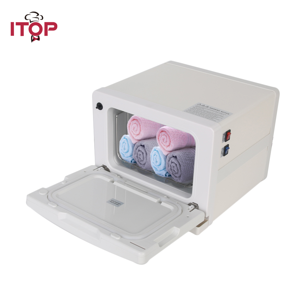 ITOP Electric Towel Warmer 8L/18L Towel Disinfection Cabinet UV light Sterilizer Hot Facial Salon Spa Beauty Equipment