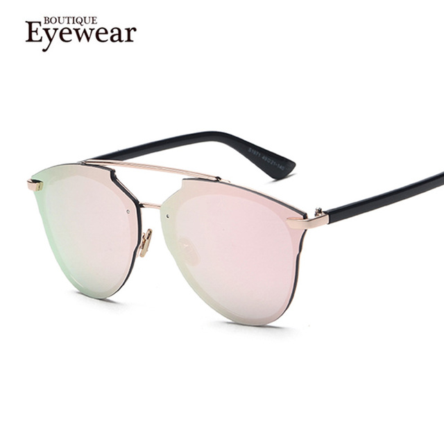 Marca de LUXO Designer Óculos de Sol Para As Mulheres Rodada Estilo Piloto óculos de Sol Shades Oculos Feminino Das Mulheres Com Caixa H1885