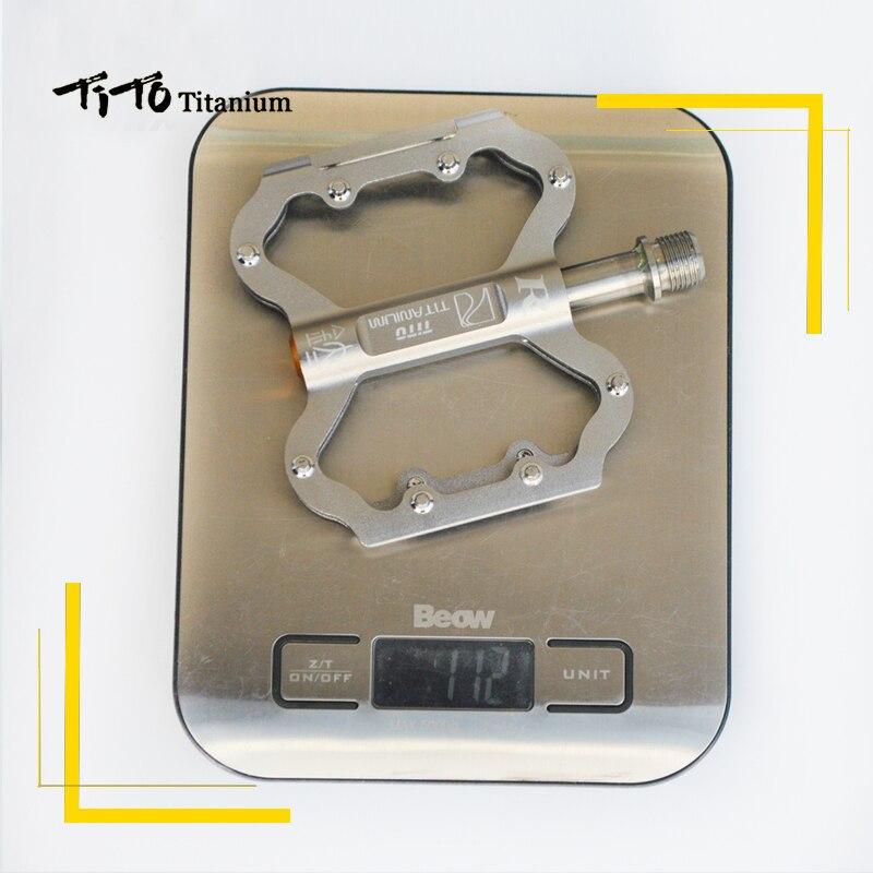 TiTo pédale ultralégère titanium pédale de bicyclette titanium alliage axe pédales de vélo vtt vélo VÉLO En titane 1 paire titanium pédale - 2