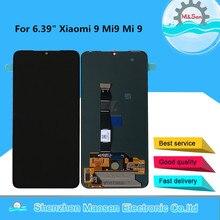 """6.39 """"original supor amoled m & sen para xiaomi 9 mi9 mi 9 display lcd quadro da tela + painel de toque digitador para 2340*1080 mi9 exibição"""