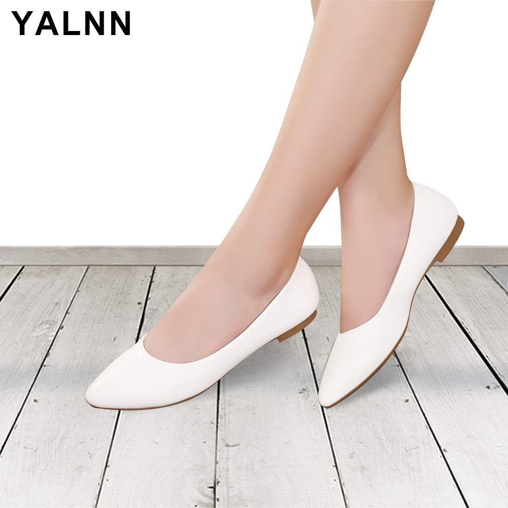 YALNN New Women Fashion Shoes flats Luxury Brand Slip-on Large size Flat Shoes for Summer Women Shoes platform Drop Shipping простынь karna трикотажная на резинке acelya 160x200 30 50x70 2 2960 char003