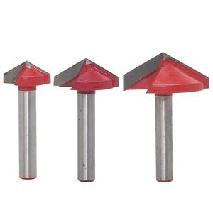 Image 4 - 6 mét V Bit 1PCS, CNC solid carbide end mill, thép vonfram chế biến gỗ phay cutter, 3D gỗ MDF router bit, 60 90 120 150 degrees
