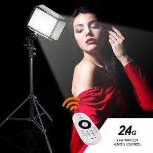 Image 4 - Travor 600 sztuk światło dzienne światło led do kamery lampa studyjna 3200K 5500k 75W oświetlenie fotograficzne z 2.4G bezprzewodowy pilot zdalnego i youtube