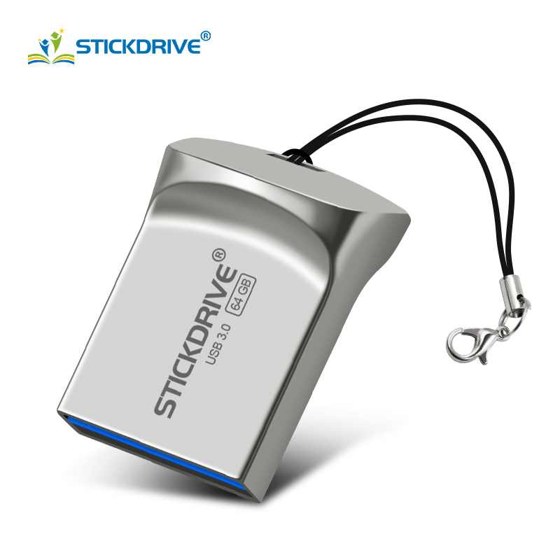 Super Mini USB 3.0 Pen Drive 128GB 64GB Memoria Usb Stick 32GB 16GB Usb Flash Drive Pendrive Metal Portable Thumb Drive