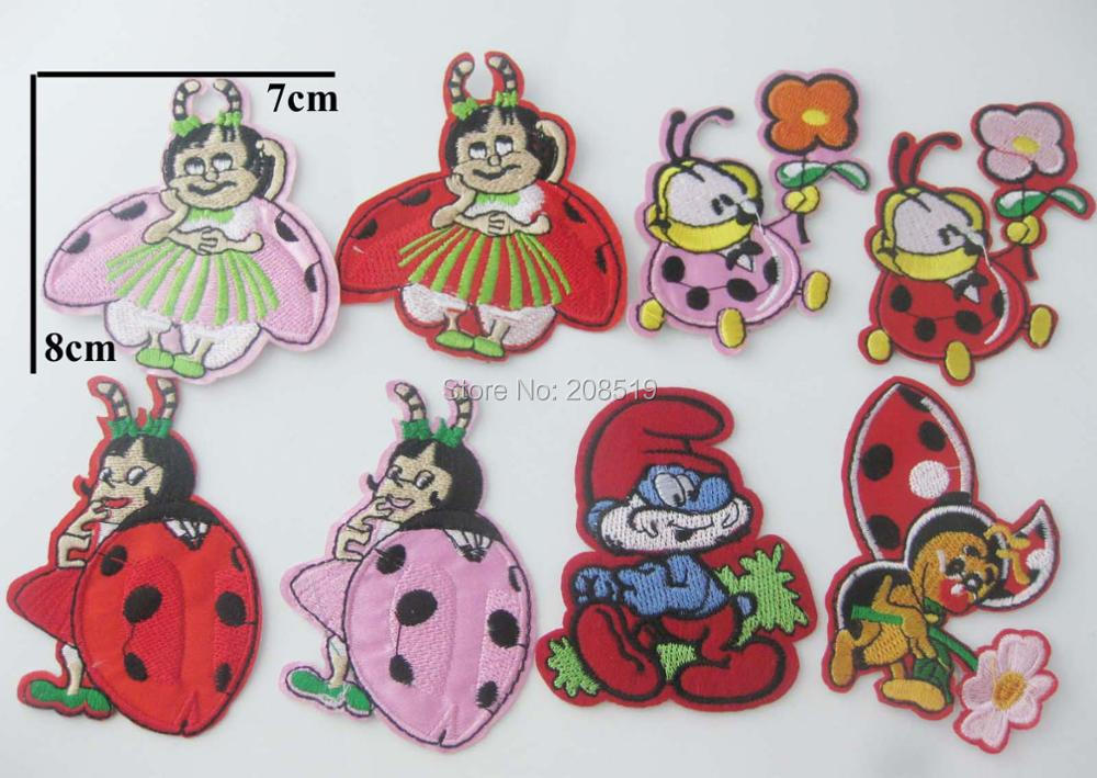 AENNKO 10pcs iron on clothes patches animal shape children garment ornaments