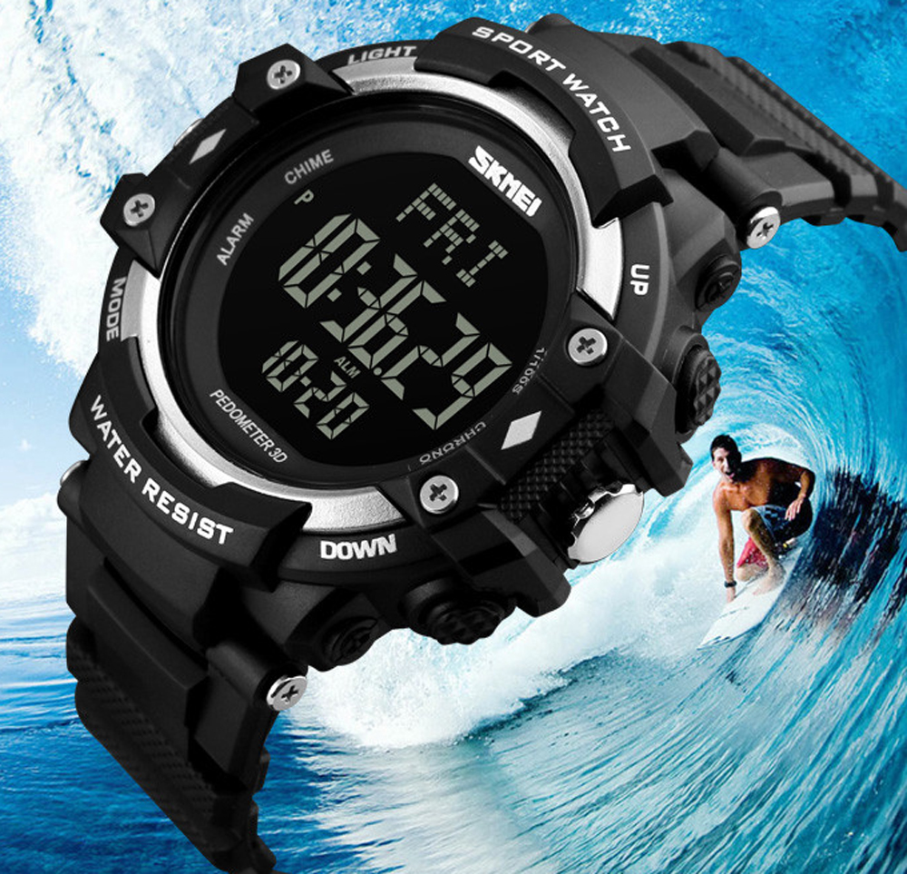 Luxury Brand New Mens Watch Man HeartRate Monitor Calories Digital Display Outdoor Sports Watches Reloj hombre <font><b>SKMEI</b></font> <font><b>1180</b></font> ZK30 image