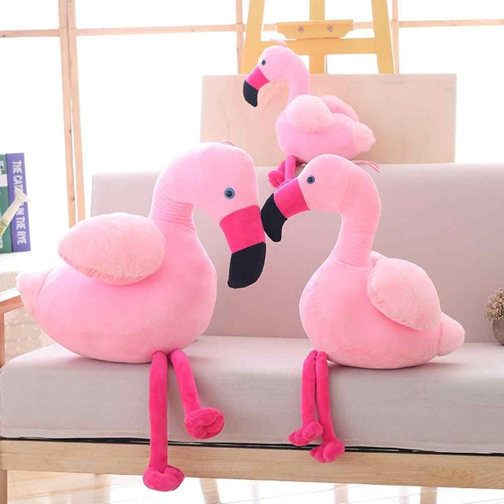 Flamingo quente crianças de Pelúcia Brinquedo Macio travesseiro Recheado Flamingo Animal Bonito Lindas Bonecas para Crianças amigos Apaziguar Brinquedo Do Bebê Menina's
