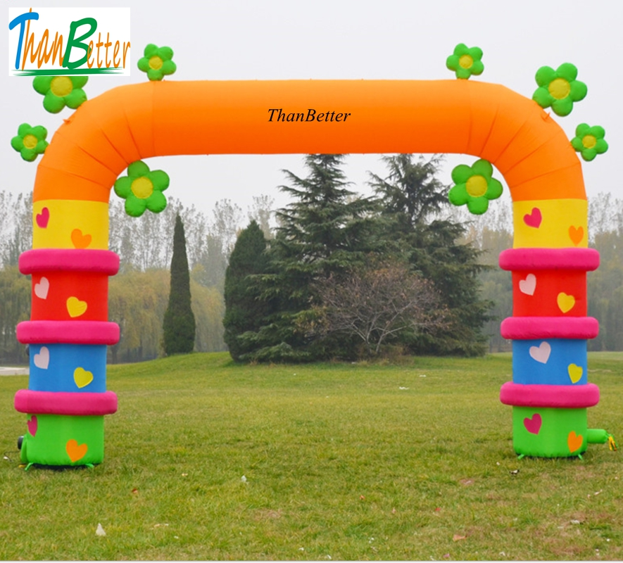 ThanBetter открытый Добро пожаловать надувной цветок арки, надувная АРКА, надувные ворота