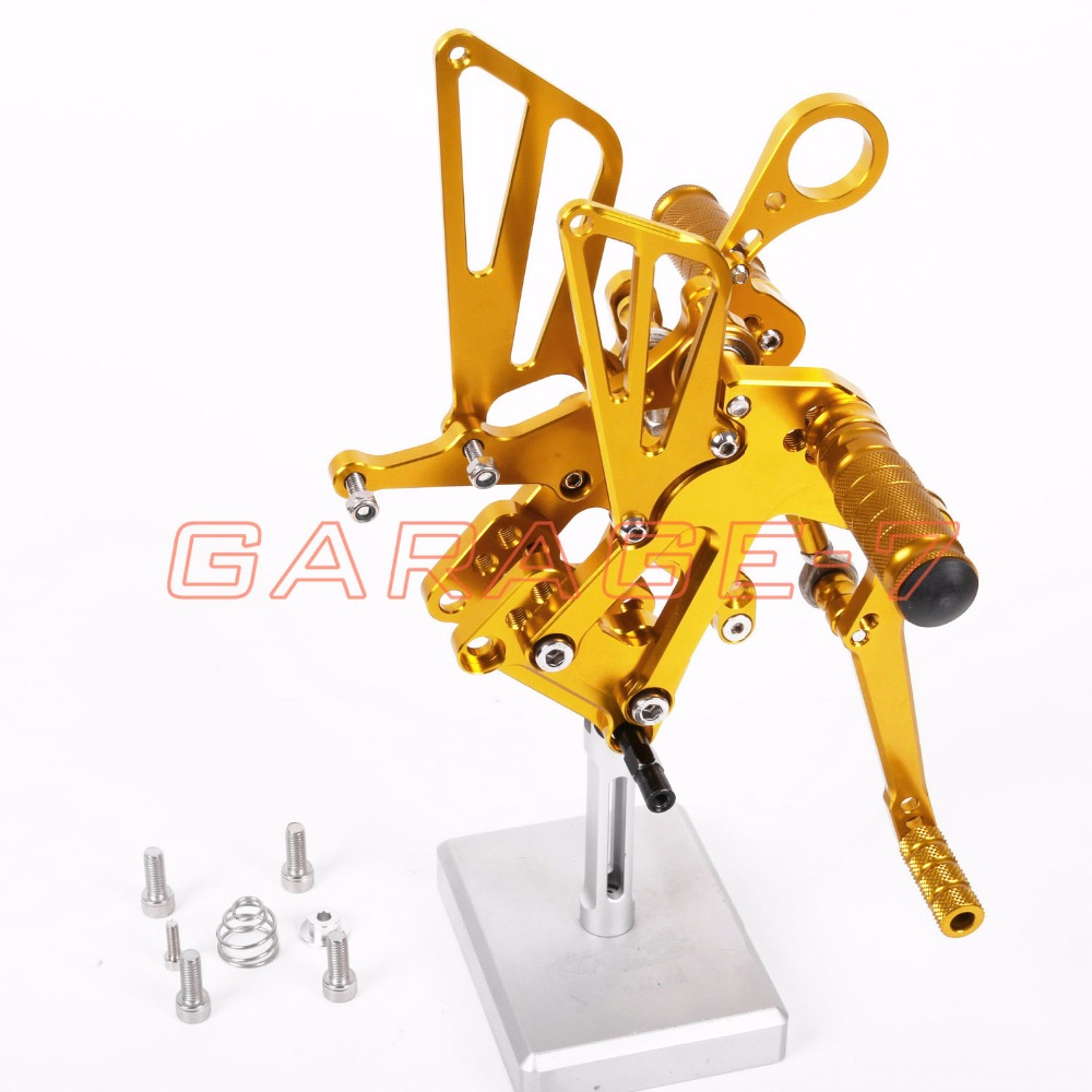 Rearsets Foot Pegs Rear Set For BMW  S1000RR 2010-2011 Motorcycle Foot Pegs Hot Sale Motorcycle Golden CNC