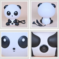 Newest EU Plug Baby Bedroom Lamps Night Light Cartoon Pets Rabbit Panda PVC Plastic Sleep Led