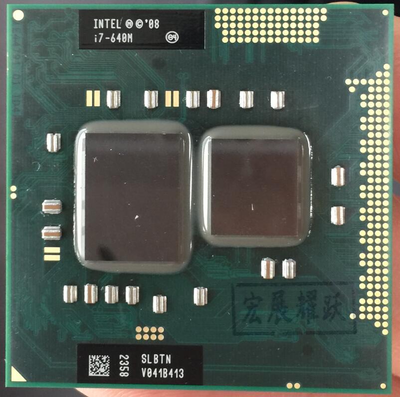 Intel Core I7-640M Processeur i7 640 M Ordinateur portable Ordinateur Portable CPU PGA 988 cpu