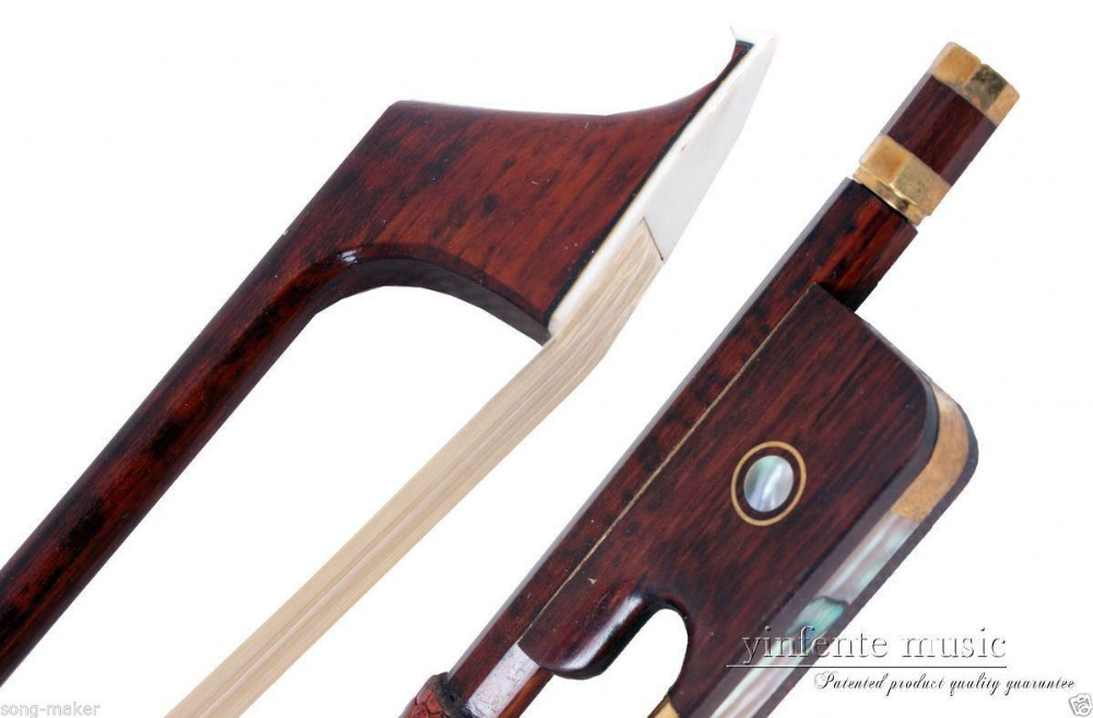 1pcs Snake Wood 4/4 Cello Bow Straight Pretty inlay High Quality New #DS-60 top grade carbon fiber 4 4 violin bow straight pretty inlay 17