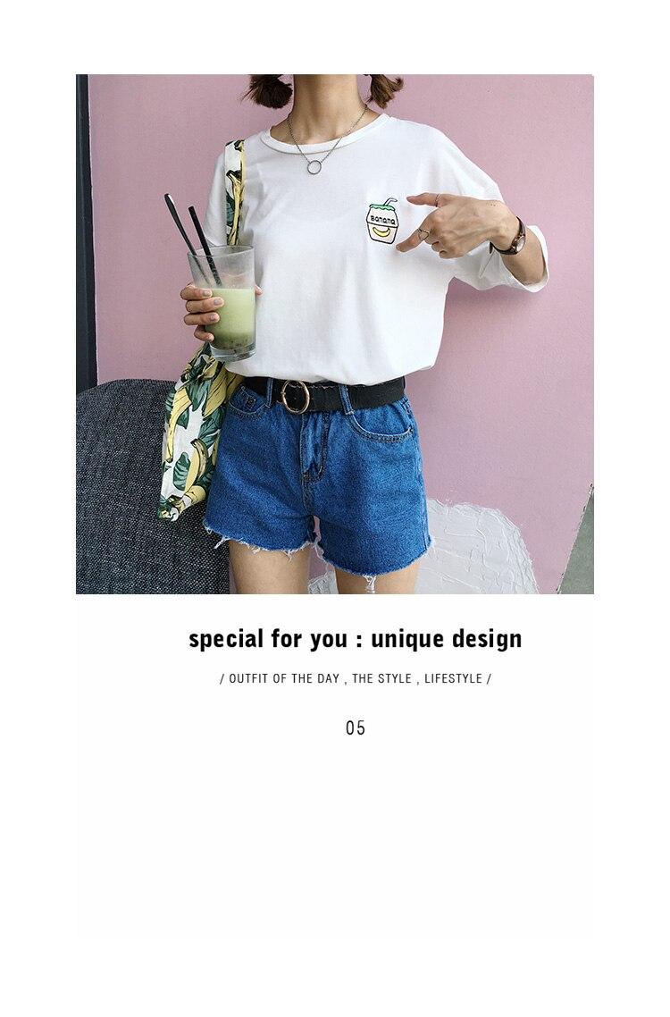 HTB1zU3HKFXXXXbJXFXXq6xXFXXXg - Summer New Cute Banana Milk Embroidered T-shirts PTC 192