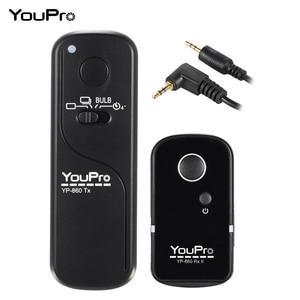 Image 1 - YouPro YP 860 E3 2.4G Draadloze Afstandsbediening Ontspanknop Zender Ontvanger 16 Kanalen voor Canon Pentax Dslr camera