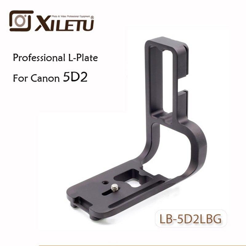 Xiletu LB-5D2LBG professionnel trépied tête QR plaque support en aluminium rapide plaque de montage pour Canon EOS 5DII 2 Akai Swiss
