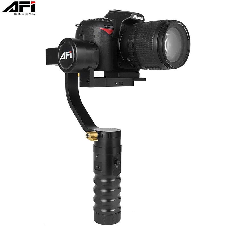 VS-3SD 3-Eixo Cardan Handheld estabilizador Para Câmera de Vídeo DSLR Siga Móvel Soporte Brushless Para Canon Nikon com Servo foco