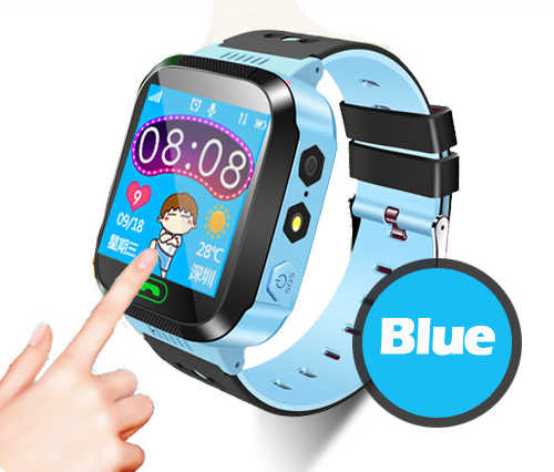 1.44 Touch Screen Smart GPS Real-time Tracker Location SOS Call Remote Camera Monitor Flashlight Watch Wristwatch for Kids child