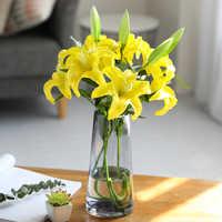 1 stücke Große Lily Künstliche Blumen für Home Decor Beste Wünsche für Mutter und Freund Geschenk Desktop Dekoration Hohe Qualität