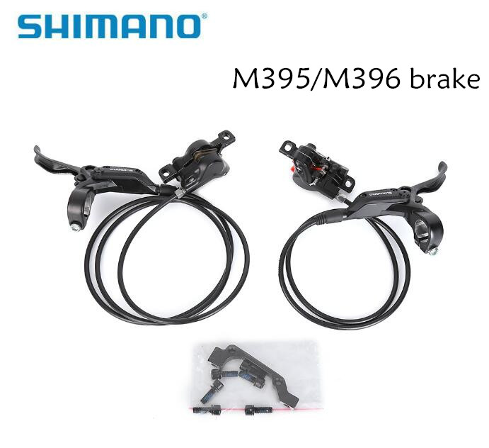 shimano Hydraulic Disc Brake Set Front and Rear BR-BL-M395 BL-M396 for shimano M395 M396 brake vele luce vl1341w01