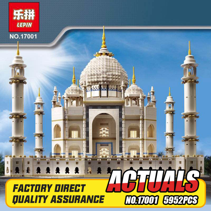 New LEPIN 17001 5952pcs The Tai Mahal Model Building Kits Brick Toys Compatible 10189 Gift lepin17001 city street tai mahal model building blocks kids brick toys children christmas gift compatible 10189 educational toys