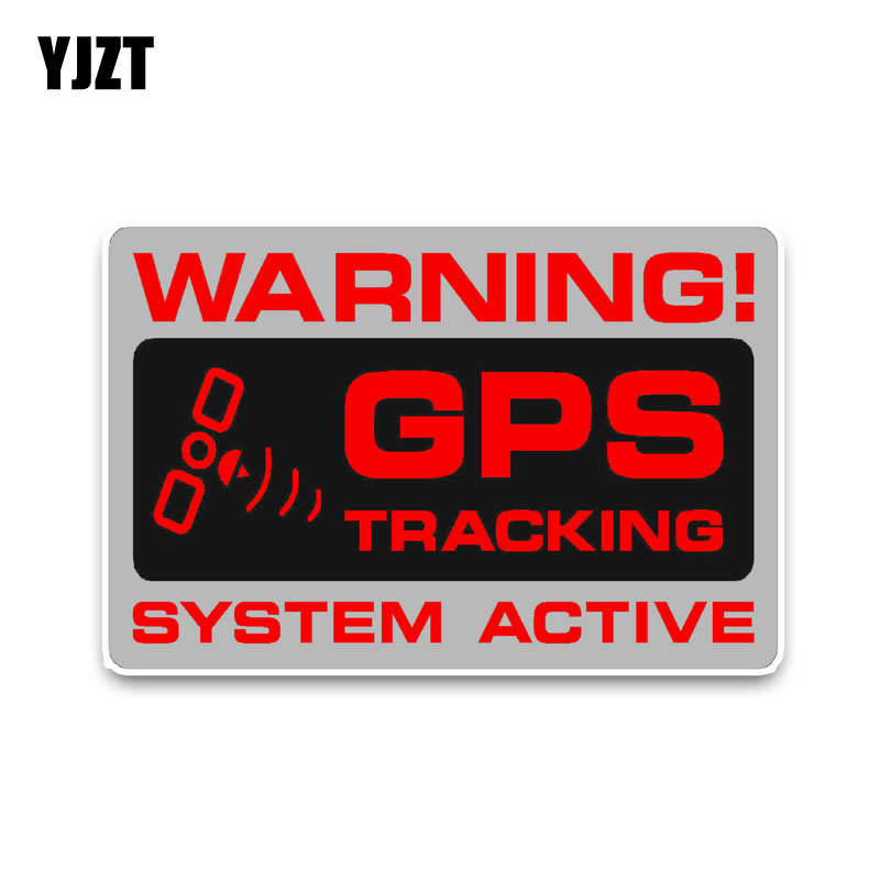 YJZT 12.2*7.3CM Car Sticker Warning GPS Tracking Police System Active Noticeable Decals PVC C1-3060