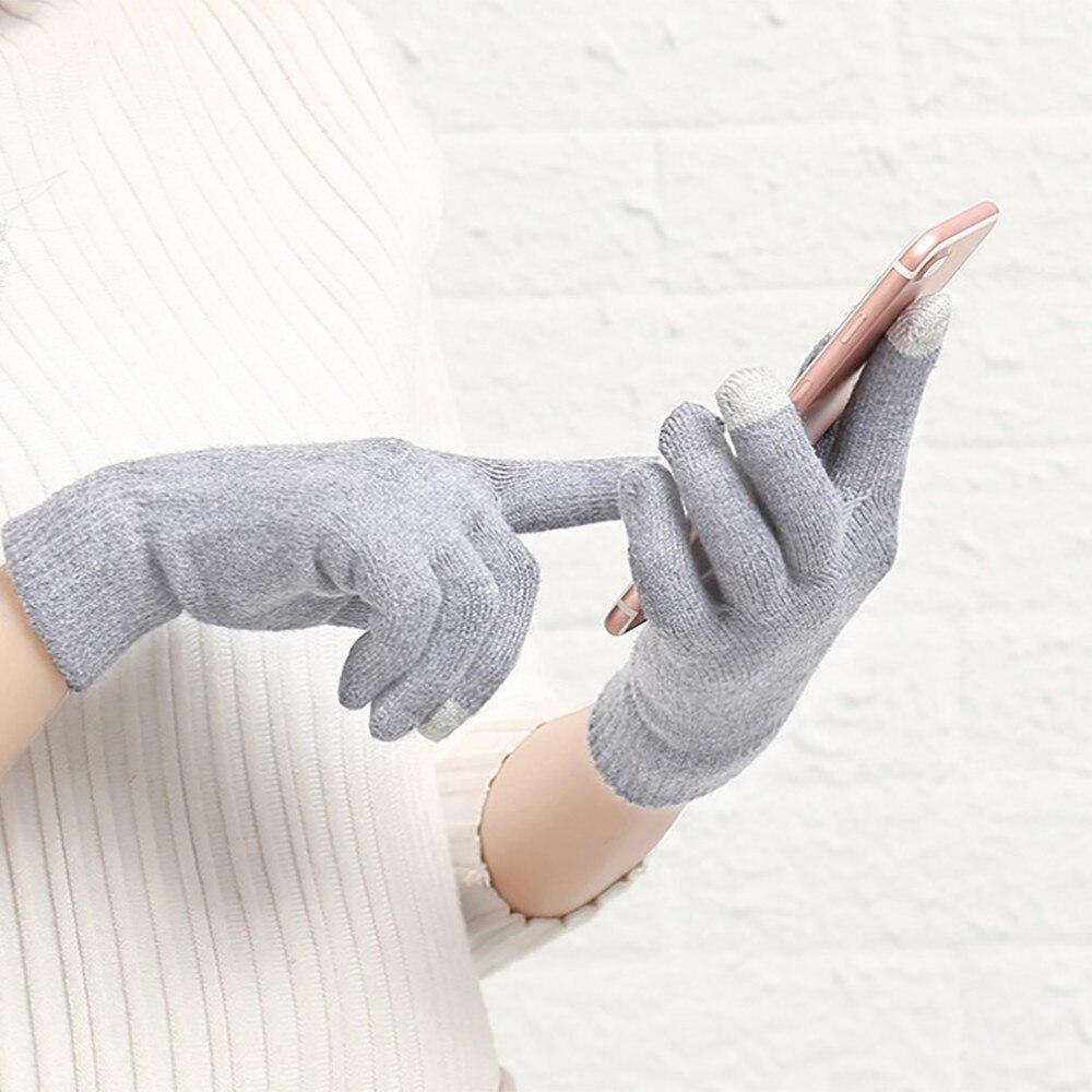 Pabrik Saled Musim Dingin Sarung Tangan Wanita untuk Ponsel Sentuh Jari Penuh Sarung Tangan Mitten Dgants Hiver Femme Wanten Dames Harga Terendah Pabrik internasional