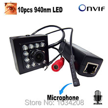 1080P Mini Ip Camera Night Vision 940nm IR POE Mini Ip Camera With Ir cut Covert Network Onvif IR IP POE Miniature Poe Ip Came
