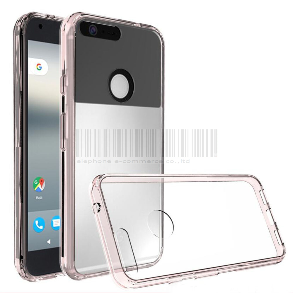 For Google Pixel/Pixel XL Case Ultra Thin Shockproof TPU Frame Hard Acrylic Back Cover Transparent Clear Case For Google Pixel