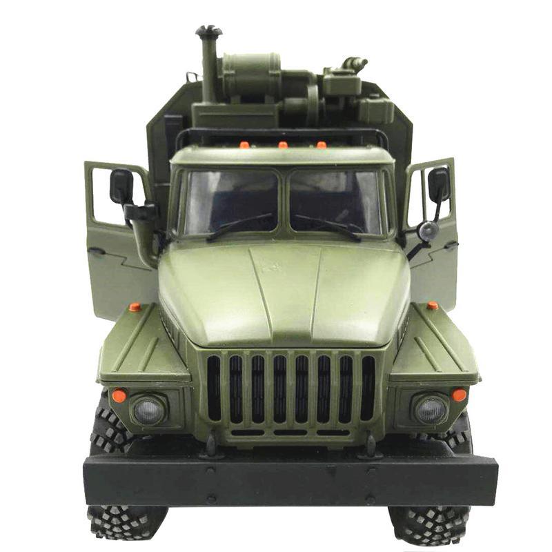 WPL Урал 1:16 шестиприводной военный грузовик Command communication Vehicle Full Scale Simulation Climbing RC CAR