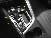 Yimaautotrims Interior Mouldings Stalls Gearshift Box Frame Cover Trim 1 Pcs Fit For Peugeot 3008 3008GT 2017 2018 2019 ABS