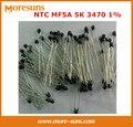 Rápido Frete grátis 100 pçs/lote forma talão termistor NTC (pequeno preto) MF5A 5 K 3470 1% bom NTC