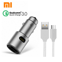 Original Xiaomi QC 3 0 Car Charger Xiaomi 5V 3A Fast Dual Car Charger 9V 2A
