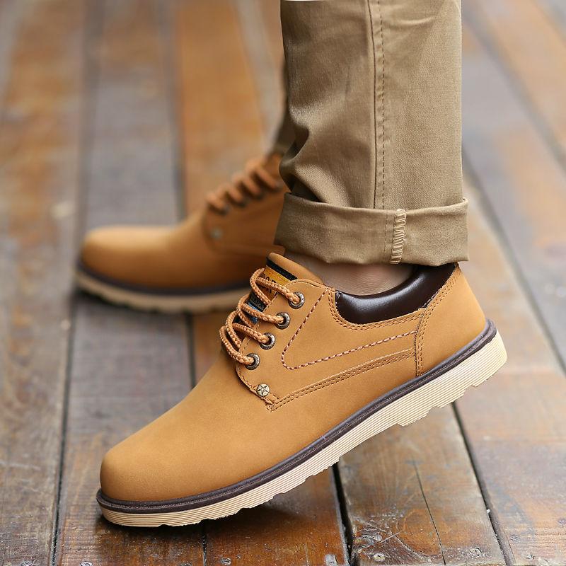 Hot 2017 Spring Autumn font b Men b font Leather Casual font b Shoes b font