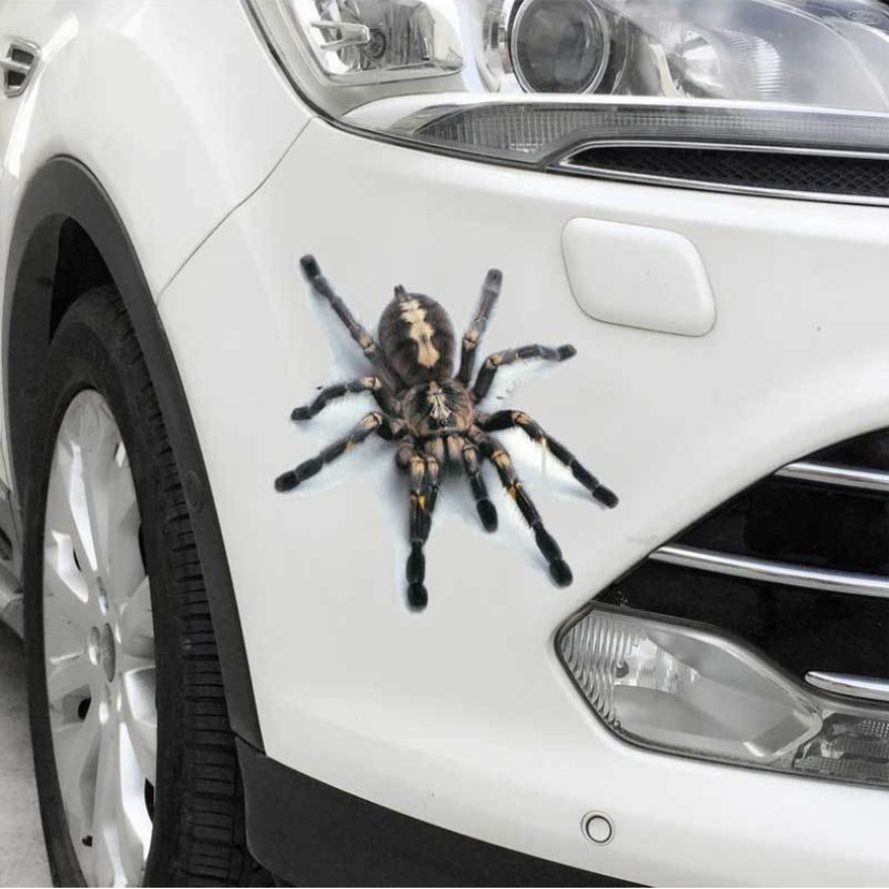 цена на Car-Styling 3D Car Stickers Decals Realistic Animal Spider/Lizard/Scorpion Classic Personality Waterproof Body Car Accessories
