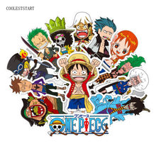 48 Uds Anime 2018 ONE PIECE Luffy Stickers para coche Laptop PVC mochila casa calcomanía almohadilla bicicleta PS4 etiqueta impermeable(China)