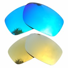 6c76be9383 Ice Blue   24K Gold Mirrored Polarized Replacement Lenses for Fives Squared  Frame 100% UVA