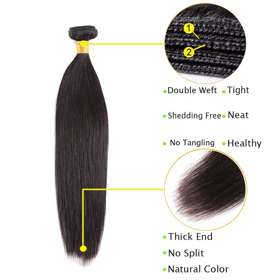straight hair bundles detail